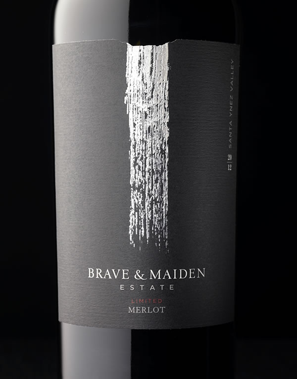 Brave & Maiden Reserve Label and Package Design