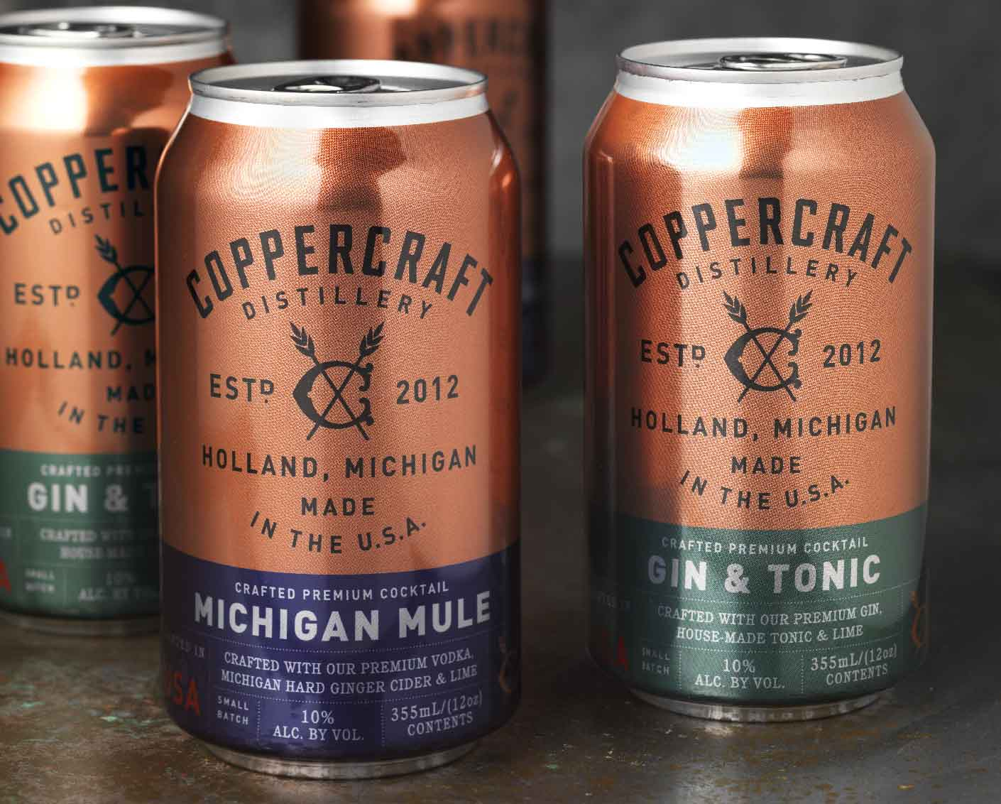 Coppercraft Distillery Canned Cocktails